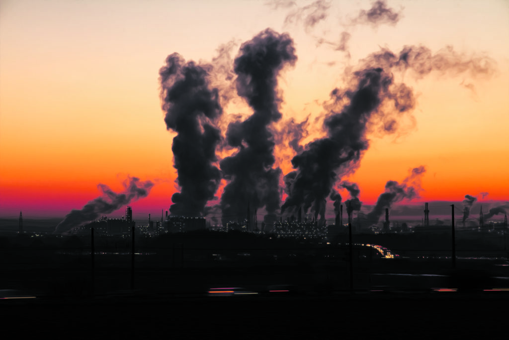 Rauch eines Kraftwerks
